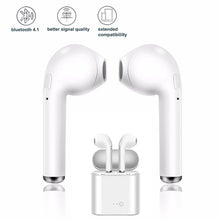 i7s TWS Wireless Earbuds With Mic & Charging Case: Black or White