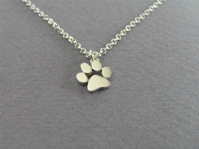 Dog paw pendant with necklace