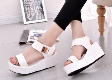 Gladiator / Roman Style Women Peep Toe Wedge Sandals