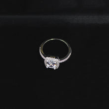 Silver Plated Rhinestone Ring for Women