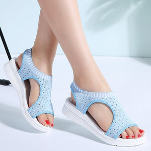 Women Slip-On Wedge Heel Sandals