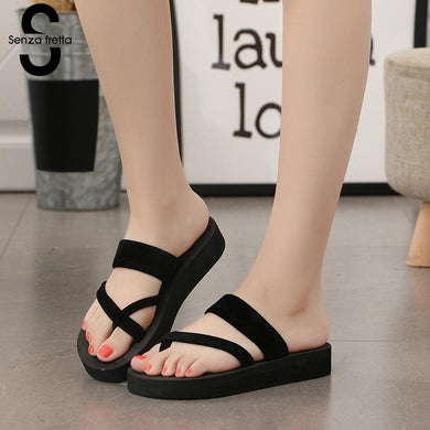 Women Non-slip Platform Shoes / Wedge Heel Sandals / Beach Slippers /  Summer Wear