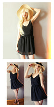 Women's Plus Size Sleeveless Chiffon Party / Beach / Summer Dress / Casual / V Neck