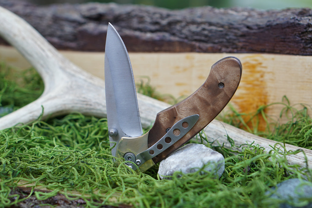 Fallow Locking Liner Knife (SS656)-AuSable River MFG