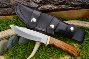 Szco Drop Point Blade Knife-AuSable River MFG