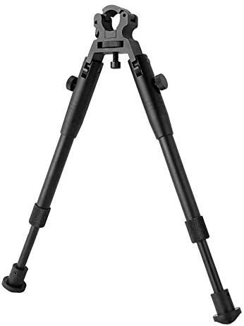 BESTSIGHT Clamp-on 6-9 inch Bipod for Rifles Round Mount Quick Release Foldable Tactics Bipod Adjustable Height