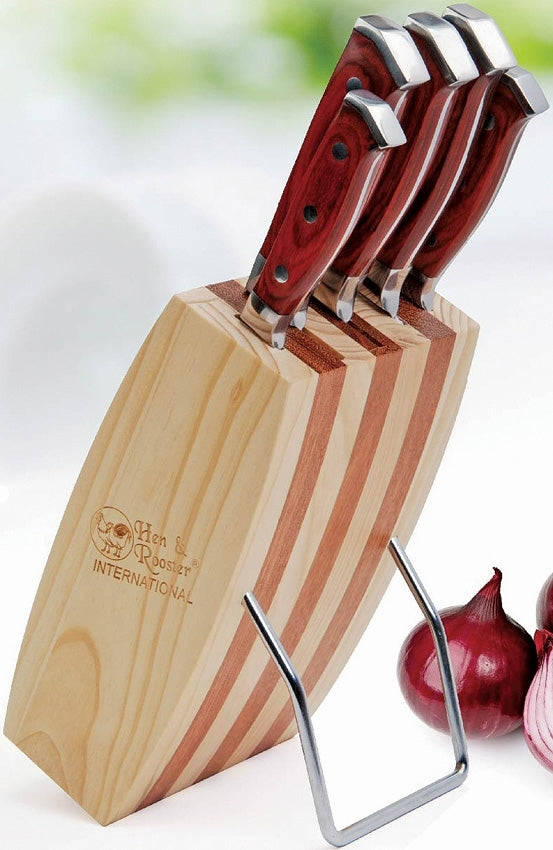 Hen & Rooster Five Piece Kitchen Knife Set