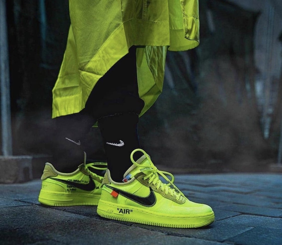 nike air force 1 low off white green