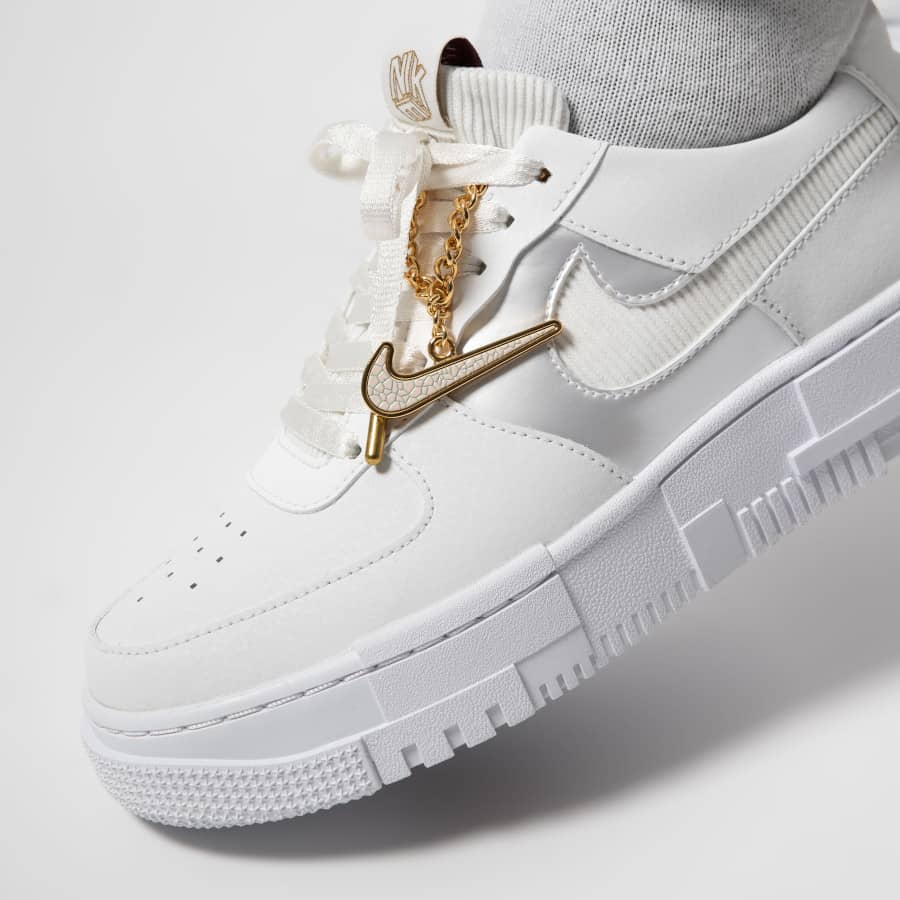 Air Force 1 Low Pixel Grey Gold Chain - TrickyShopper