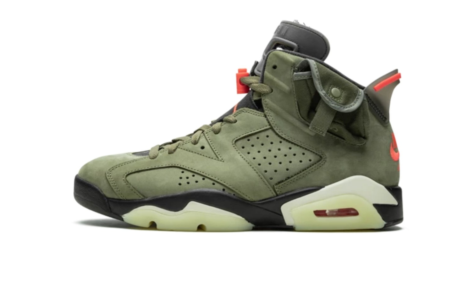 cozy fresh footwear exclusive shoes Air Jordan 6 Travis Scott Medium - Nike Sneakers Limited Edition