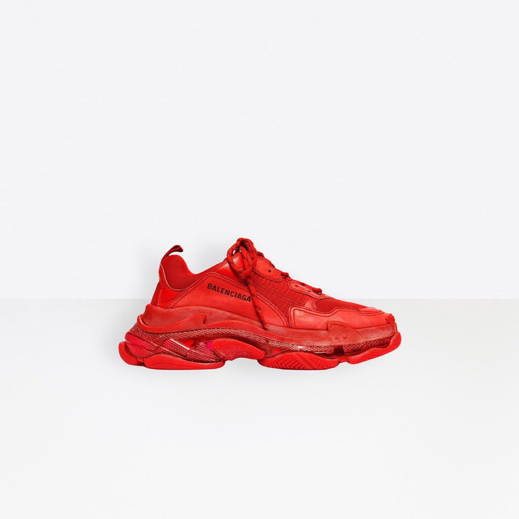 Balenciaga Triple-S Red Clear Sole 19' - TrickyShopper