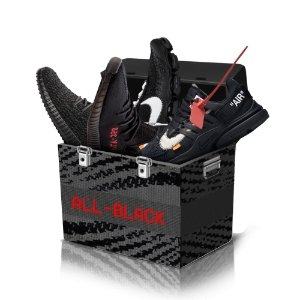 Black Shoes Sneakers Mystery Box - TrickyShopper