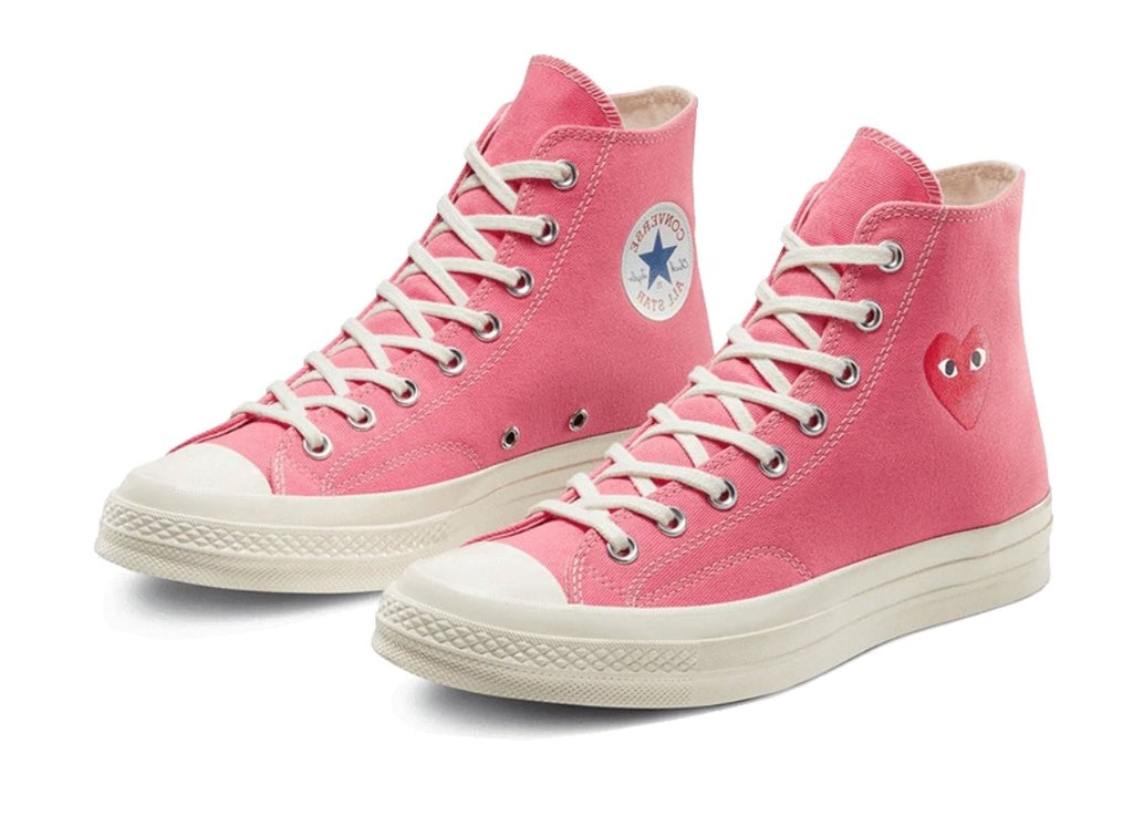 Chuck Taylor All-Star 70s Hi Comme des Garçons Play Bright Pink - TrickyShopper