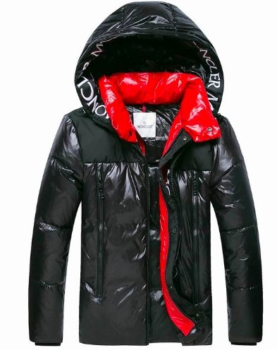 Moncler Jacket 2020 Shine Black and Red - TrickyShopper