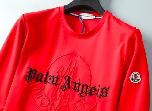 Moncler x Palm Angels Sweatshirt Red - TrickyShopper