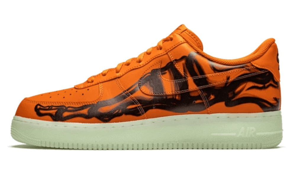 Nike Air Force 1 Low Orange Skeleton Halloween (2020) - TrickyShopper