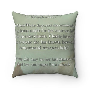Mya Spun Polyester Square Pillow