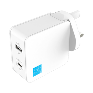 Juku USB-C PD and USB Dual Port Wall Charger (42W)