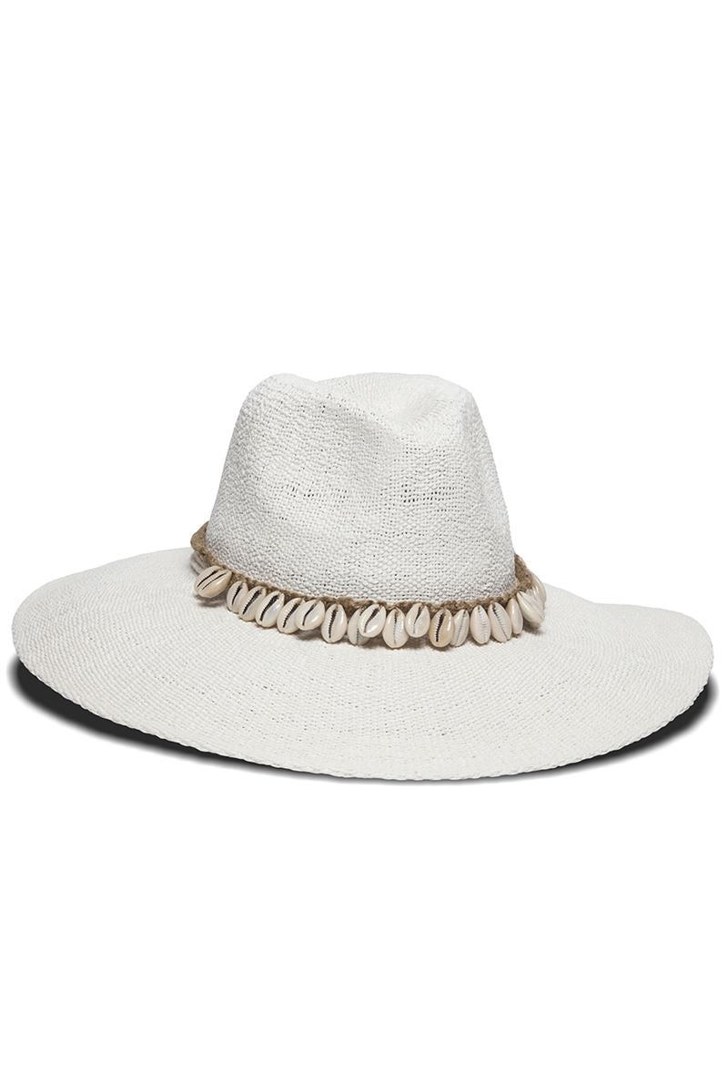 Barbados Puka Shell Trim Sun Hat