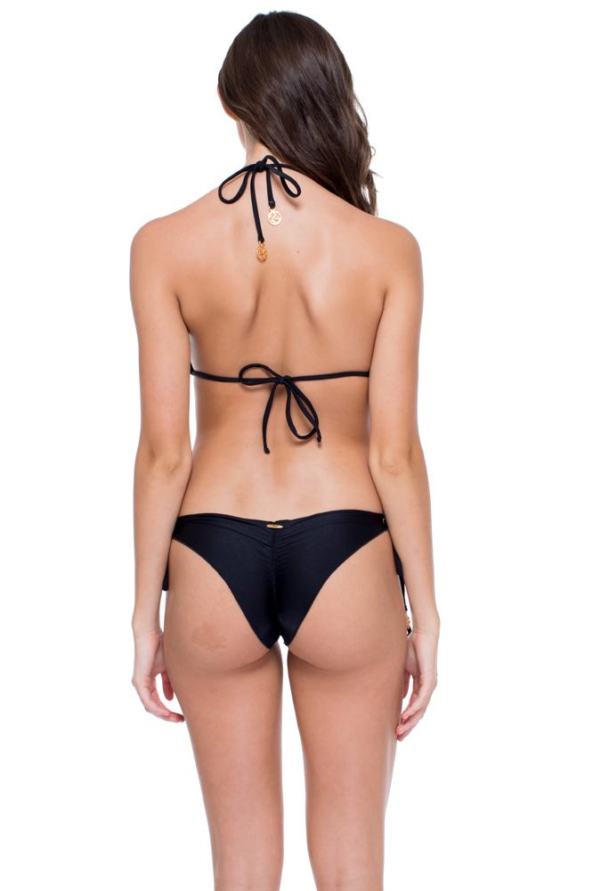 Mambo Wavey Ruched Back Brazilian Tie Side Bottom