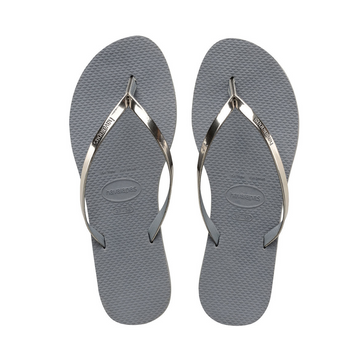 YOU METALLIC FLIP FLOPS
