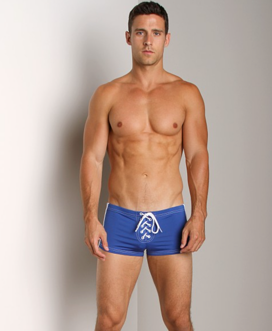 FOOTBALL LACE-UP SHORT COBALT