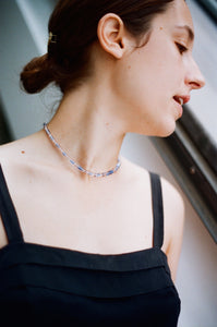 Maline necklace - Pink and Blue