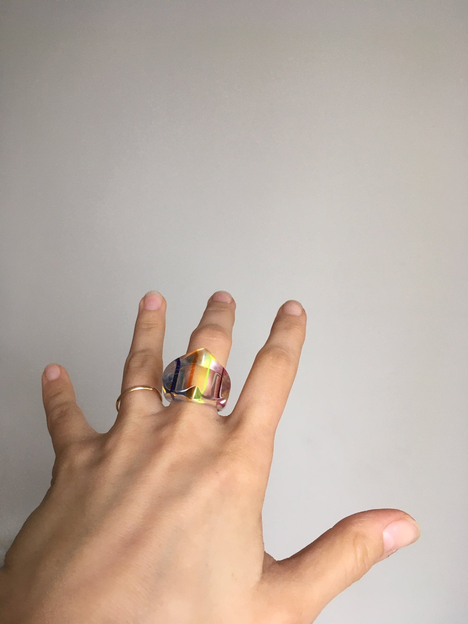 Vintage lucite ring size 55