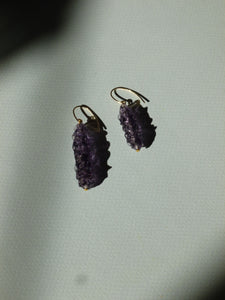 Candi earrings - purple - One of a kind