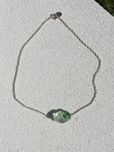 Special Bonbon necklace - Clear green - One of a kind