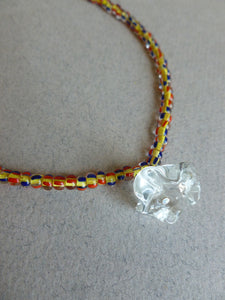 Corolle necklace - Beach colors
