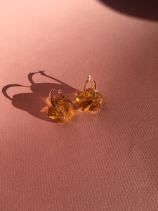 Slightly bigger Fleur earrings - Orange