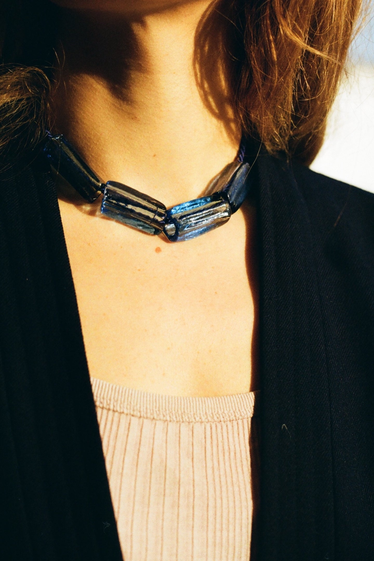 Gelat necklace  / All blue