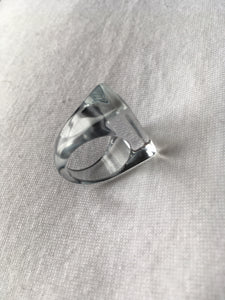 Vintage lucite ring size 53