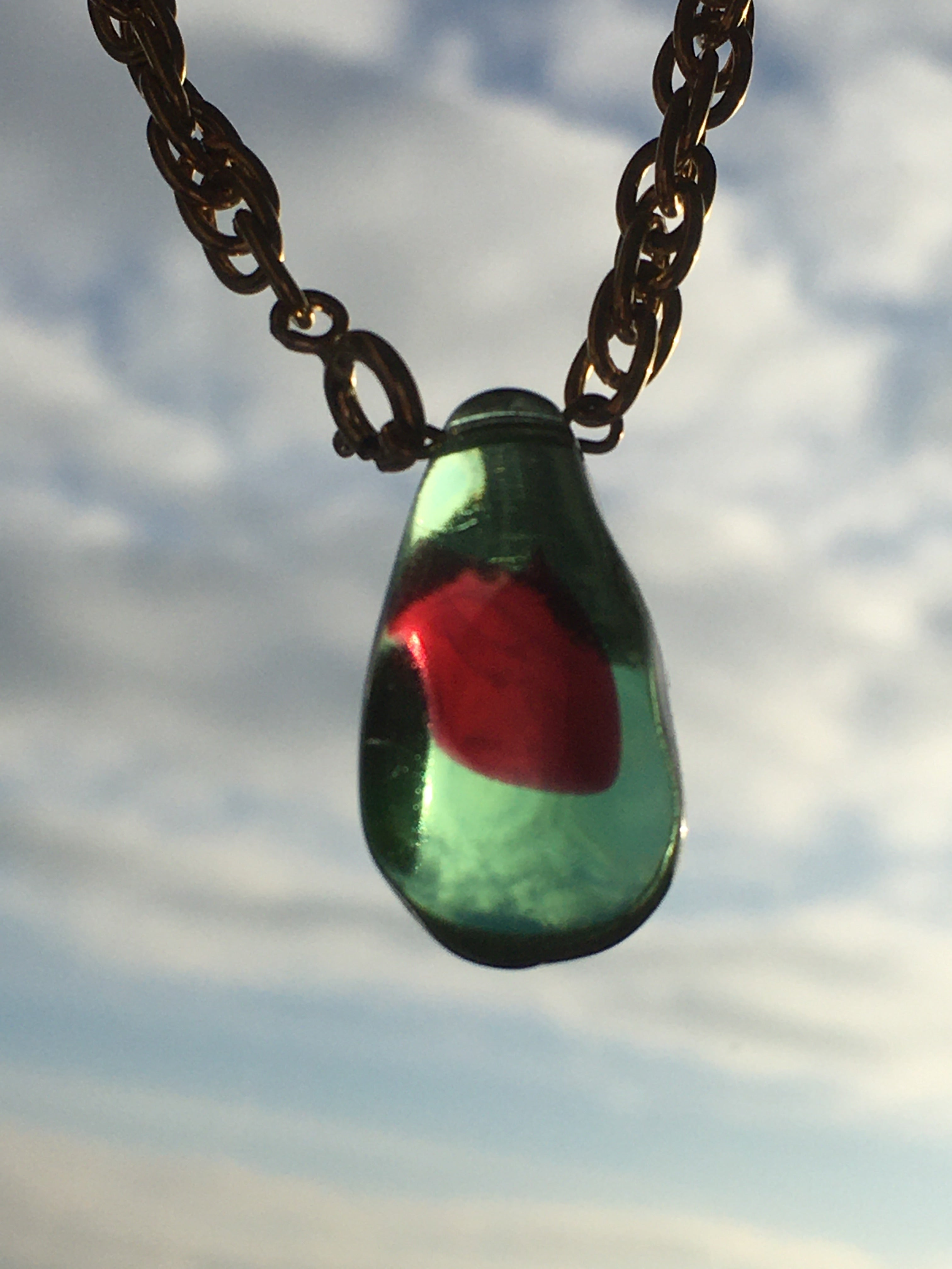 Hybrid necklace - Green / Red