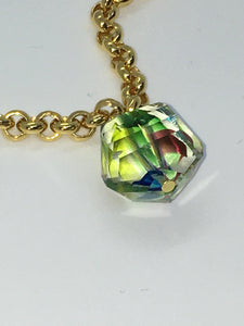 Special Crystal necklace - Multicolor ball - One of a kind