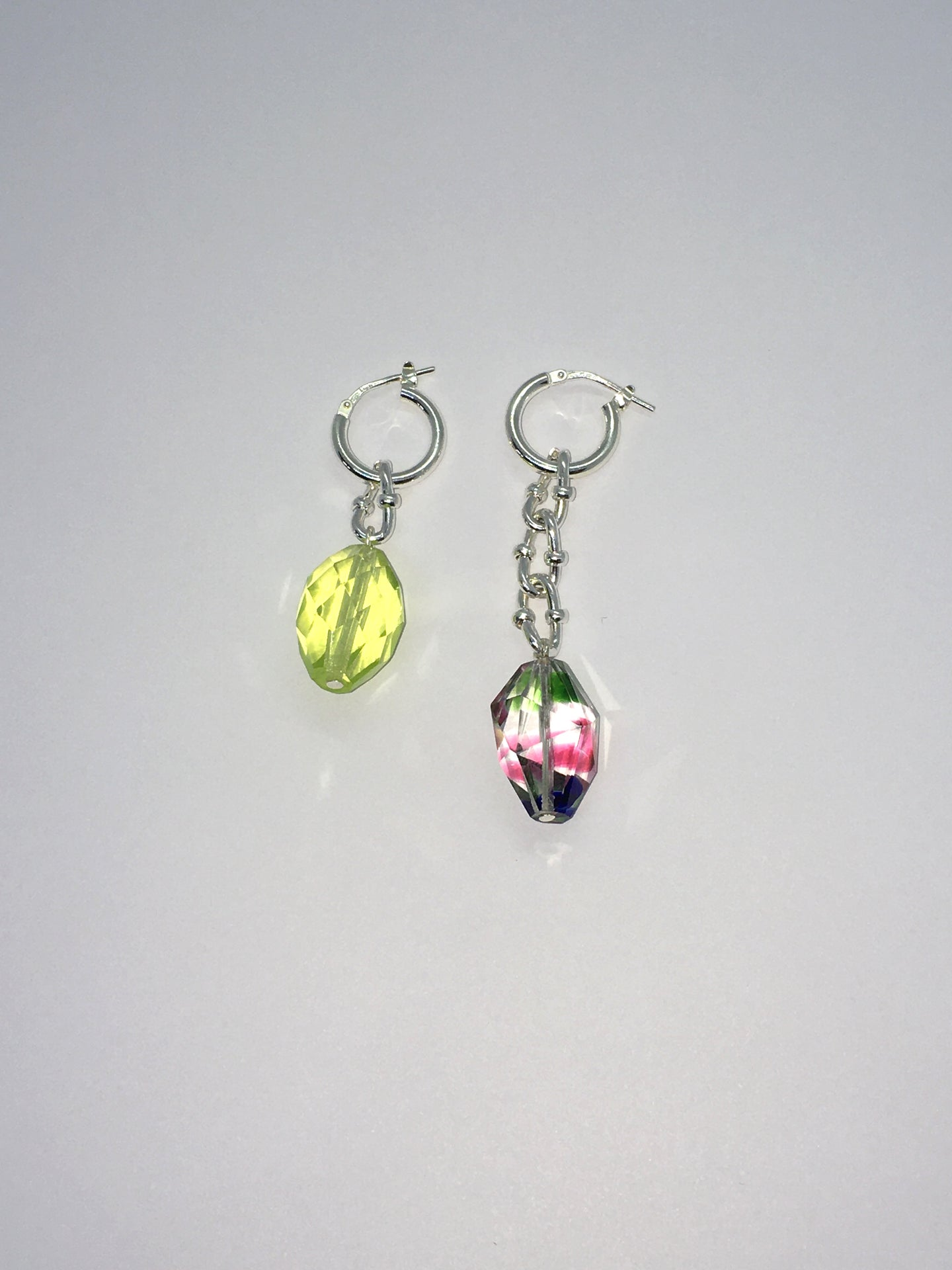 Special Crystal earrings - Yellow / Multi - One of a kind
