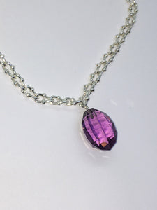 Special Crystal necklace - Purple abdomen - One of a kind