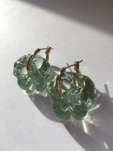 Smaller Fleur earrings - Transparent
