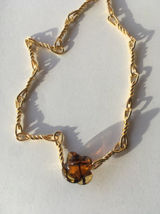 Bonbon necklace - Gold and tawny