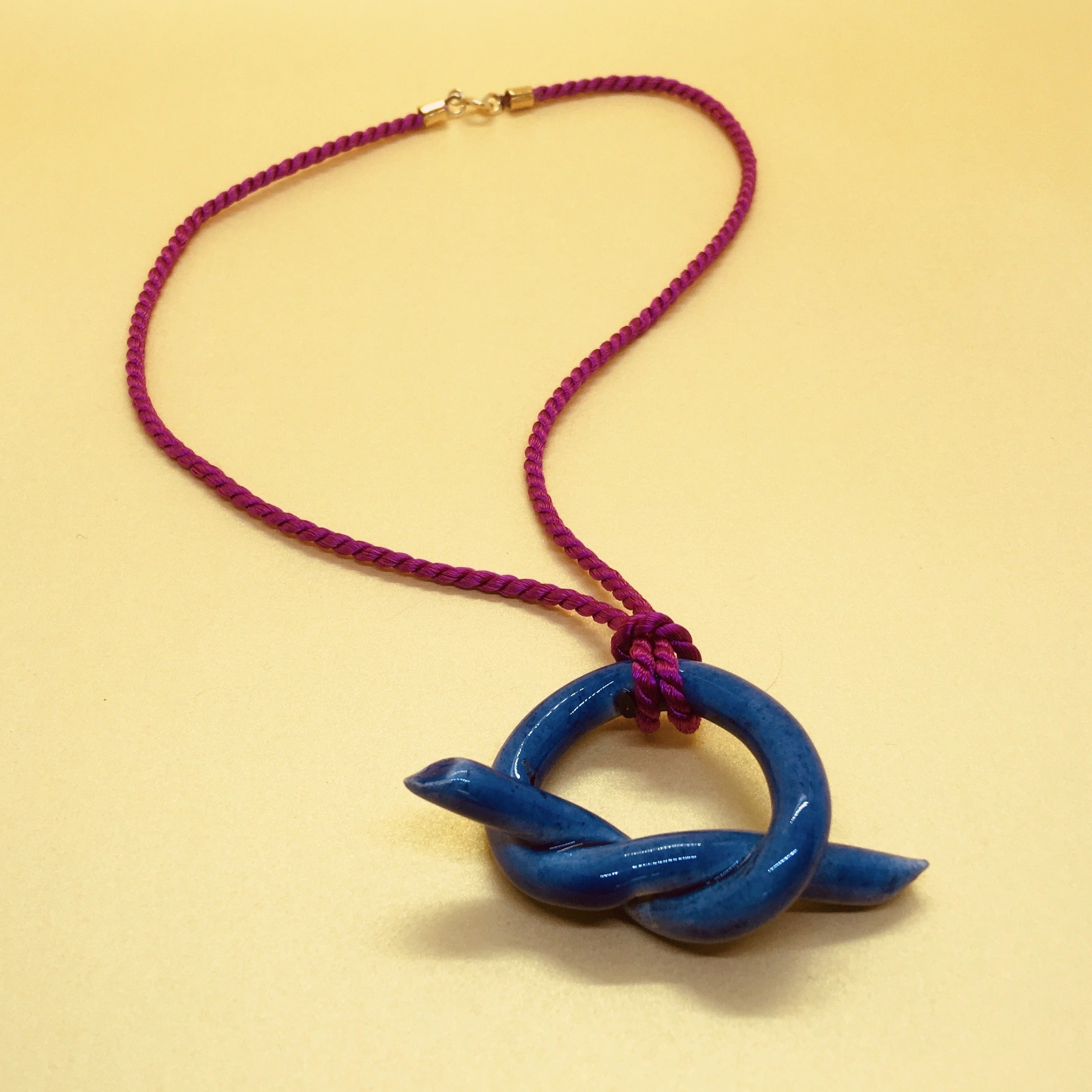 Collier Mona Bleu Rose