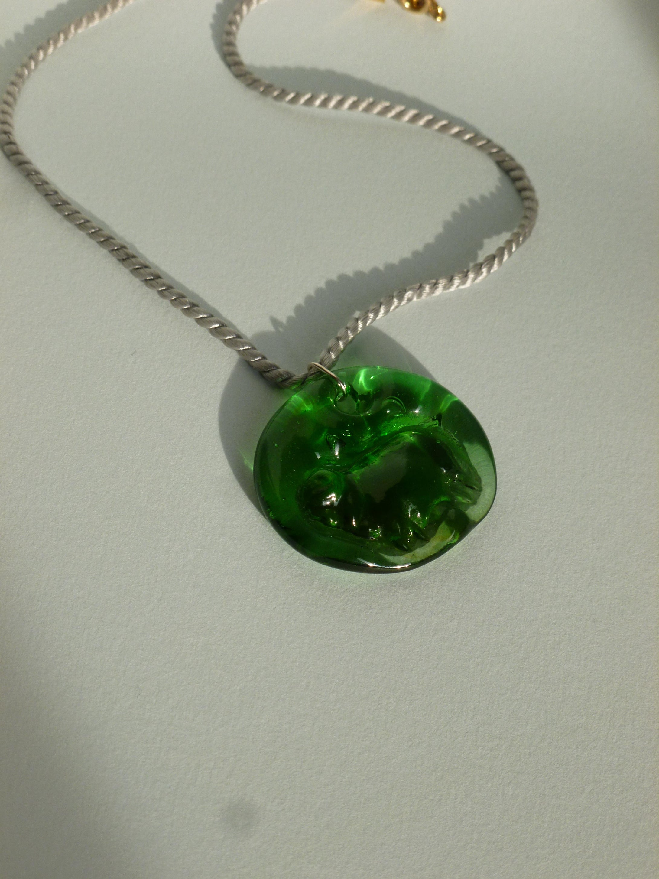 New Ovella Necklace - Green and grey