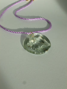 New Ovella Necklace - Transparent and lilac