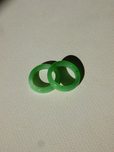 Vintage glass ring - Jade green