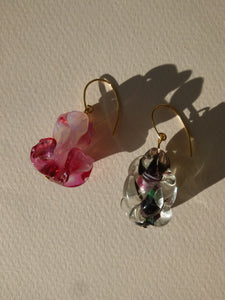 Bougie earrings III - mismatched - One of a kind