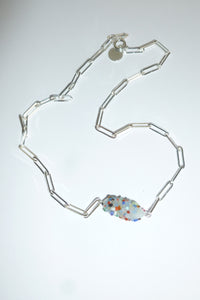 Special Bonbon necklace - White sprinkle - One of a kind