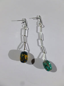 Geo chain Earrings - One of a kind