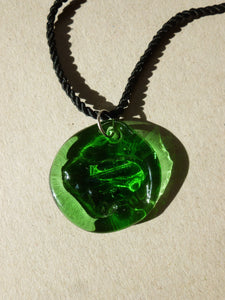 Ram Necklace / Green and black