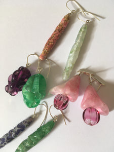 Bourgeon earrings - one of a kind