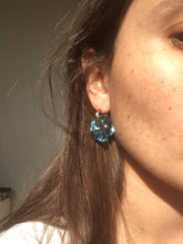 Load image into Gallery viewer, Smaller Fleur earrings - Pale blue